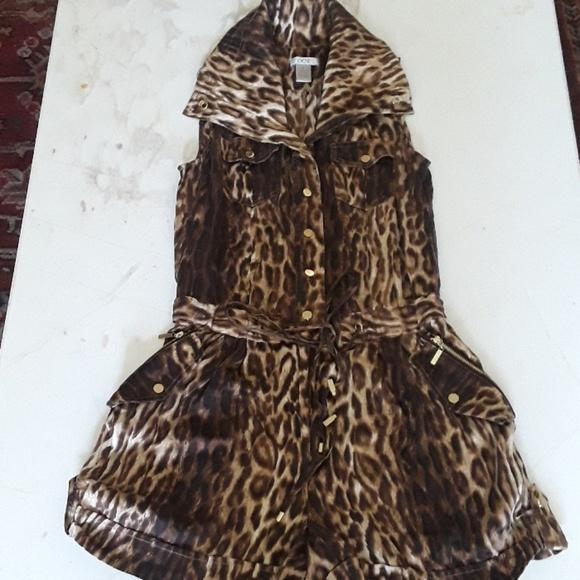 bd79ddb46c61 Cache Shorts | Leopard Print Silk Romper | Poshmark
